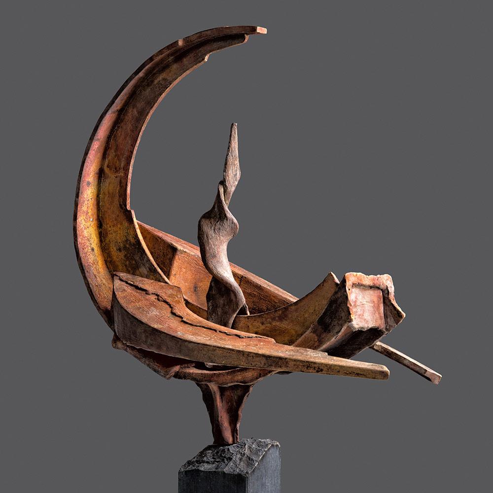 Albatros 70x70 - Bronzen beeld voor buiten